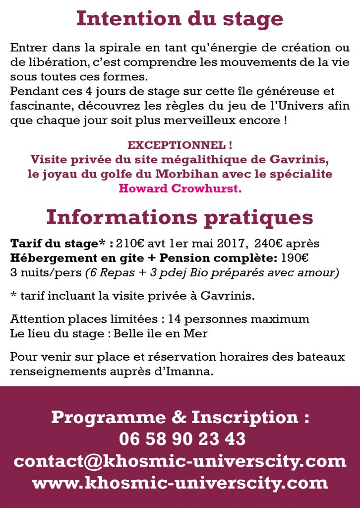 Flyer Spirale Cosmique 20172